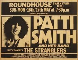 PATTI SMITH GROUP & THE STRANGLERS, ROUNDHOUSE, MAY 17TH 1976